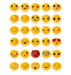 Emoticons or smiley icons set vector image vector image