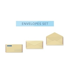 Envelope Set Open and Close Design Flat vector image vector image