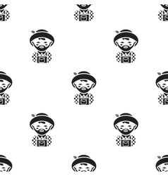 Farmer black icon for web and mobile vector image vector image