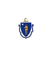 Flag of massachusetts vector