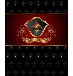 golden ornate frame vector image vector image