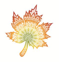 gradient autumn leaf vector image