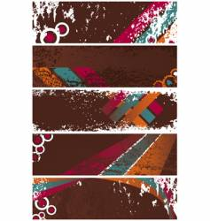 grunge banners template vector image vector image