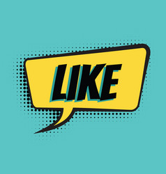 like comic word vector image