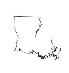 map of the us state louisiana vector image