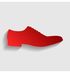 Men Shoes sign vector image vector image