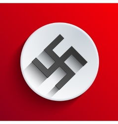 Modern swastika icon background vector