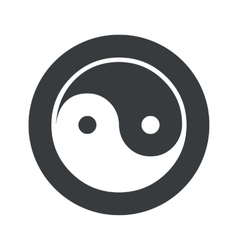 Monochrome round ying yang icon vector