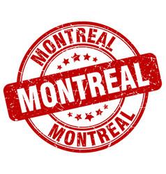 Montreal red grunge round vintage rubber stamp vector