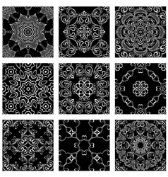 ornam set black 380 vector image