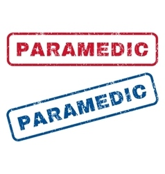 Paramedic rubber stamps vector