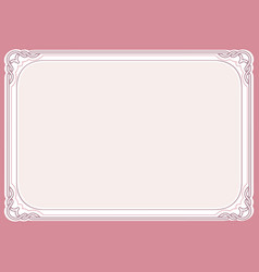 Pink background and frame vector