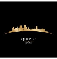 Quebec Canada city skyline silhouette vector image