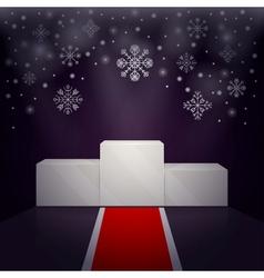 Sport winners pedestal winter theme vector image vector image