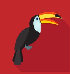 Toucan cartoon flat icon brazil vector