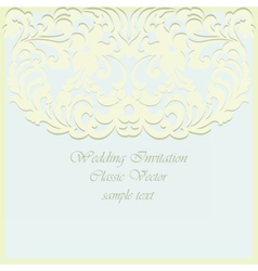 Vintage card ornamental lace with floral elements vector