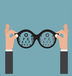 vision of eyesight eye care concept vector image