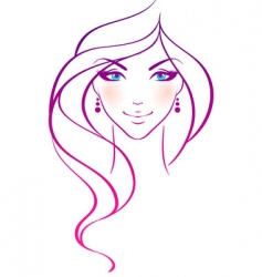 women beauty hair vector image