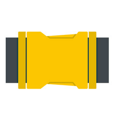 Yellow side release buckle icon isolated vector