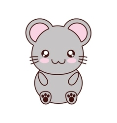 Mouse kawaii cute animal icon vector