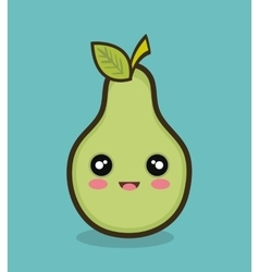Cartoon pear fruit design vector