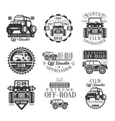 Quad Bike Rental Club Set Of Emblems With Black vector image