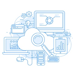 Cloud computing service and internet vector