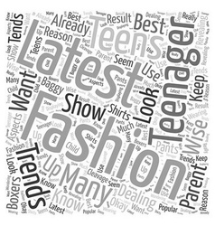 Dealing with Your Teenager and the Latest Fashion vector image
