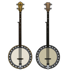 Two classic banjo vector