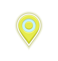 Map location pin vector
