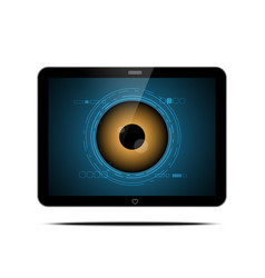 Technology digital cyber security eye computer vector