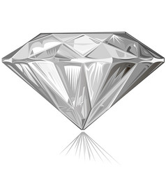 Diamond side view vector