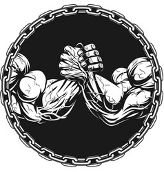 symbol of the competition on armwrestling vector image