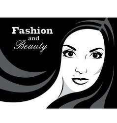 Beauty in black and white - vector image
