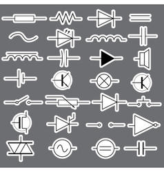 Schematic symbols in electrical engineering vector