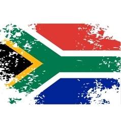 Abstract image of the south african flag vector