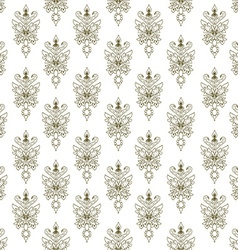 Seamless texture with doodle pattern vintage vector