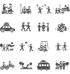 Outing Icons Set vector image