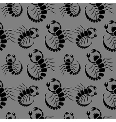 Seamless pattern with scorpions vector