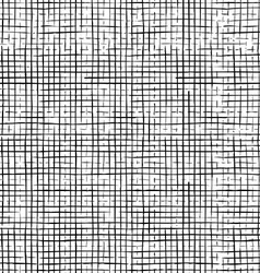 Seamless pattern of checkered thin pencil strokes vector