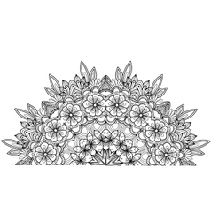 Page of coloring book with flowers vector