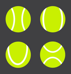 Tennis ball set vector