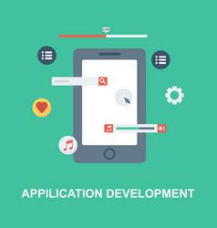 Application development concept design vector
