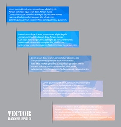 Banners Polygon background vector image