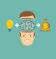 brainstorm concept - idea to make money vector image