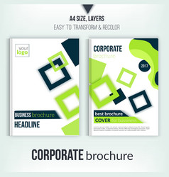 Brochure cover design template geometric square vector