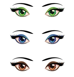 Cartoon female eyes vector