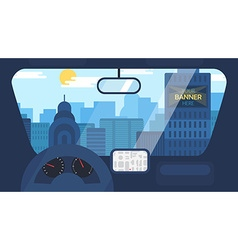 City Life From Car vector image vector image