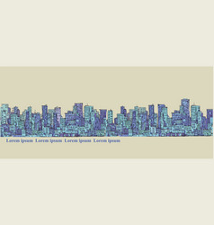 city panorama hand drawn cityscape vector image vector image