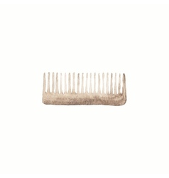 Comb or hair brush watercolor brushes on the vector